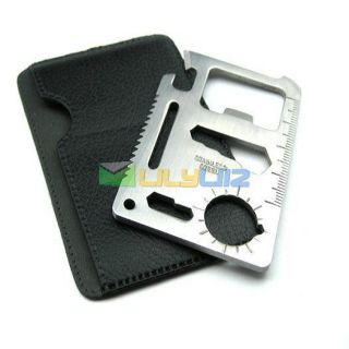 Mini Emergency Survival Credit Card Knife Camping Tool 11 in 1