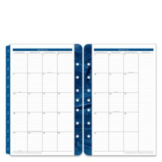 Classic Monticello Two Page Monthly Calendar Tabs Jan 2013 Dec