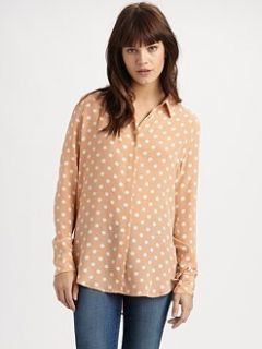 2012$248NEW Equipment Brett Polka Dot Silk Blouse Shirt Button Down XS