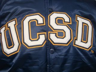 NCAA Ucsd Tritons Throwback Plush Jacket M L XL 2XL