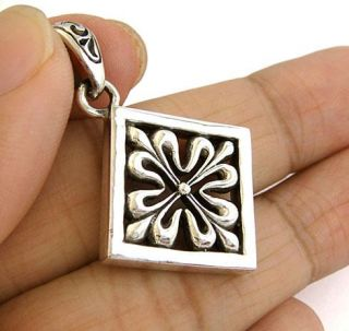 Calatrava Fleur de Lis Cross Sterling Silver Pendant