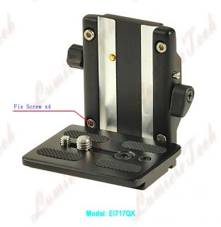 EI717QK Photo Video Camera Tripod Quick Release Plate Mount Kit