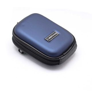 Blue Fashion Durable Digital Camera Hard Case Pouch Bag