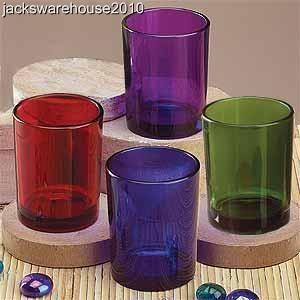 Color Thin Tube Candle Holder Set Tealight Votive 12pcs