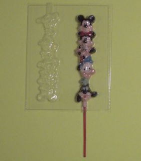 MICKEY MOUSE FRIENDS TOWER Lollipop Chocolate Soap Candy Mold NEW