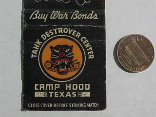 1940s WWII Era US Camp Hood Texas Tank Destroyer Center Buy War Bonds