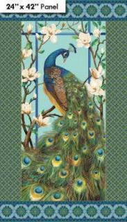 Northcott Peacock Paradise 2799M Panel $9.50/panel Cotton Fabric