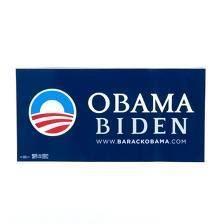 Official Barack Obama Biden Campaign Bumper Sticker Classic Blue 2008