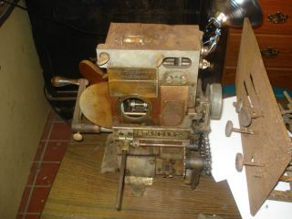 Standard Antique Movie Projector Arc Light Hand Crank Canisteo NY movi