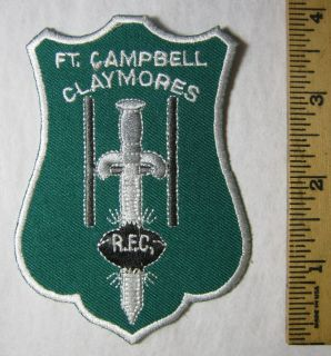 Fort Campbell Claymores Rugby Football Club Patch