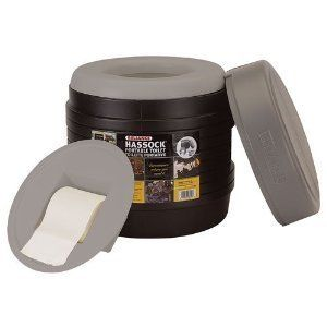 Camping Toilet Waste Disposal Bucket Container w/ Cover Tissue Holder