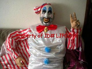 Lifesize Captain Spaulding Evil Clown Halloween Prop Figure Talks