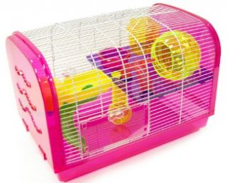Hamster Rodent Mouse Mice Critter Play House Cage H1080A Pink