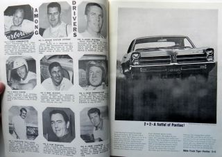 1965 NASCAR Stock Car Racing Program Ned Jarrett Cover w 8pp Watkins