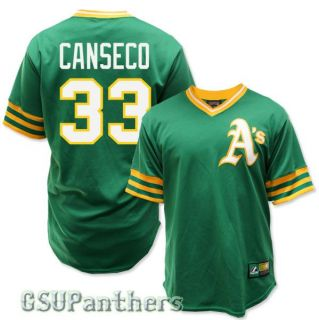 Jose Canseco Oakland Athletics Cooperstown Green Jersey Mens Sz M 2XL