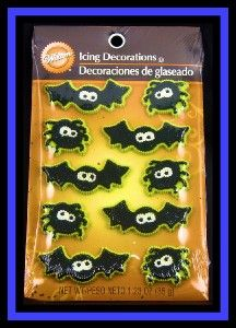 New Wilton Halloween Spiders Bats Icing Decorations