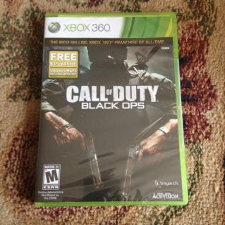 Call of Duty Black Ops Xbox 360 2010 Brand New SEALED and Never Opened