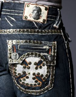 Laguna Beach Jeans Embroidered Magnum White 2G Crystals Sample