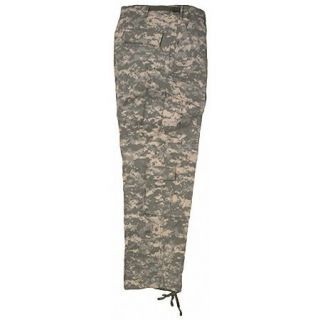 ACU DIGITAL CAMOUFLAGE BDU CARGO PANTS   Cotton/Poly Rip Stop, Fatigue