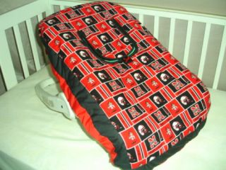Baby Car Seat Carrier Cover w Nebraska Cornhuskers