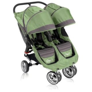 2011 Baby Jogger City Mini Double Stroller Green 81174 Brand New