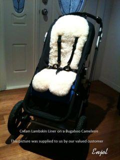 Lambskin Baby Stroller / Car Seat / Pram / Jogger / Buggy Liner
