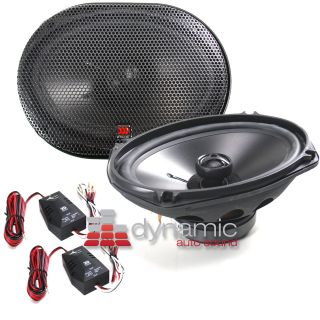 Integrated 2 Way Tempo Series Coaxial Car Speakers Pair