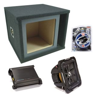 Kicker Car Stereo Single 15 S15L7 Ported Speaker Sub Box DX1000 1 Amp