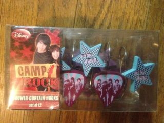 Disney Camp Rock Shower Curtain Hooks Set of 12 New