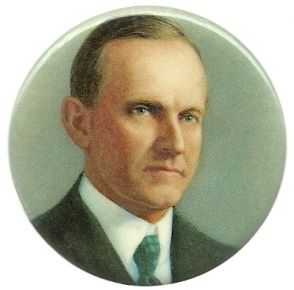 Calvin Coolidge Presidential Set Colorful Pin Button