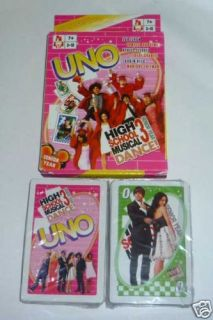 Uno Playing Cards Game High School Musical 3 Dance New