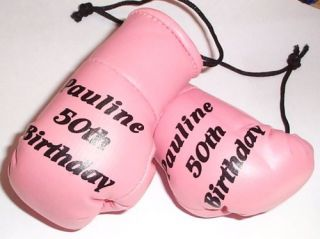 Personalised Mini Boxing Gloves Any Colour Any Name