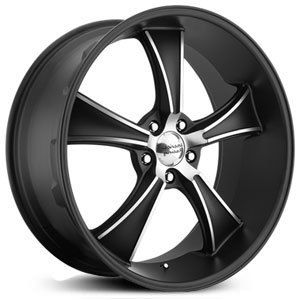 American Racing VN805 Rims Wheels Black 17x8 5x120 7 0
