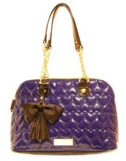 Betsey Johnson Blue Leather Handbag   BE MINE Heart