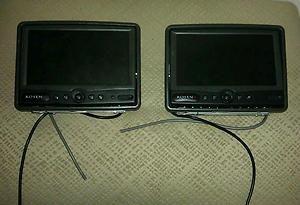 Rosen AV7500 LCD Headrest Screens Flipdown Car TV Monitor