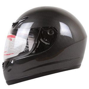 Carbon Fiber Look Full Face Motorcycle Helmet Size XL