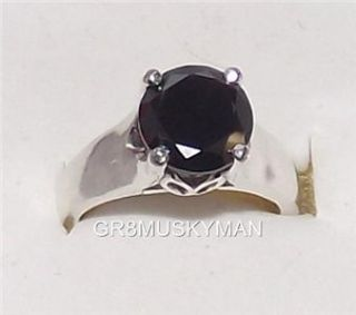 64 Ct RARE 100 Grade AAA Huge Black Diamond Tulip Style Ring Size 7