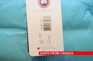 New Canada GOOSE Camp Down Jacket Parka Coat Iceberg Blue 100