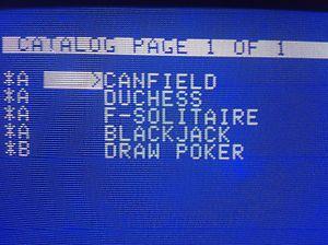 FIVE CARD GAMES on 5 25 for Vintage Apple Computer IIe II Plus IIc