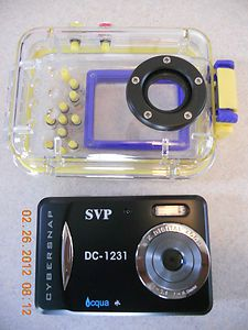 DC1231 Underwater Digital Camera Camcorder Black Waterproof