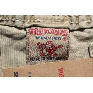 True Religion Anthony Big T Cargo Pants Wheat Size 36 $178 BNWT 100%