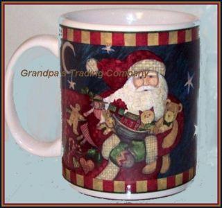 World Santa Claus Christmas Mug CIC Bag Sack of Toys Candy Cane