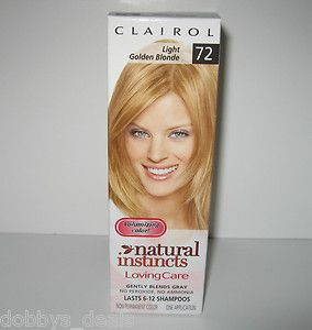 CLAIROL LOVING CARE #72 LIGHT GOLDEN BLONDE HAIR COLOR    NEW