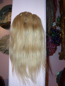 100% Human Hair Wig Wiglet Topper Crown Filler 10 Bld no. 106