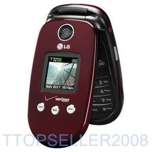 LG VX8350 Maroon Verizon Camera Flip Phone Fair