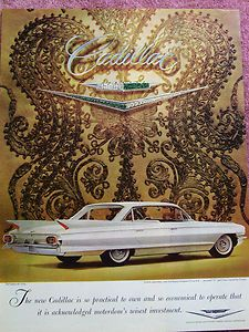 Vintage 1961 Cadillac Sedan de Ville Four Door Hardtop Ad