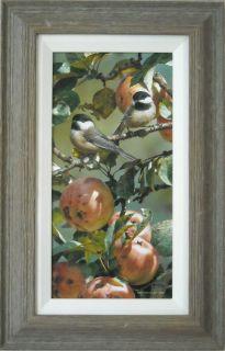 Carl Brenders Chickadees Apple Tree Original Painting
