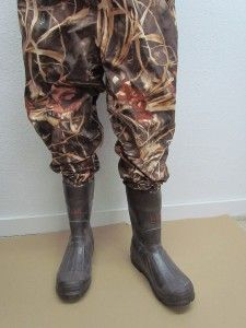 Pro Line World Famous Fishing Hunting Mens Camo Boot Waders Size 10