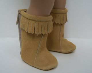 CARMEL Faux Suede Moccasin Boots Doll Shoes FOR AMERICAN GIRL♥