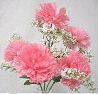 Carnations Rose Petal Pink Silk Wedding Flowers Bouquets